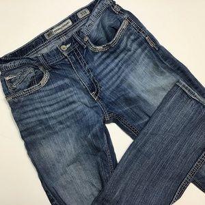 BKE | Faded Distressed Straight Leg Women's Jeans